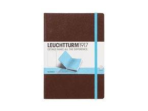 Zápisník Leuchtturm1917 Medium Bicolore Tobacco-Turquoise, čistý