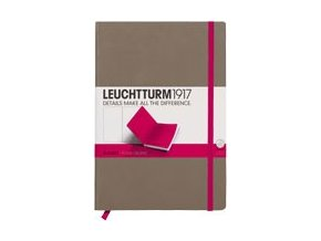 Zápisník Leuchtturm1917 Medium Bicolore Taupe-Pink, čistý