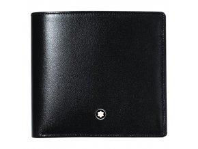 Kožená peněženka Montblanc Meisterstück Coin Black, 4 karty