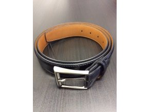 Kožený pásek Blažek black, 110 cm
