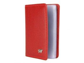 Braun Büffel kožené pouzdro na kreditní karty a vizitky Braun Büffel červené