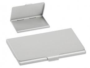 Business Soft kovový vizitkář, stříbrná