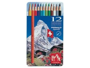 Akvarelové pastelky Caran d'Ache Prismalo, 12 barev