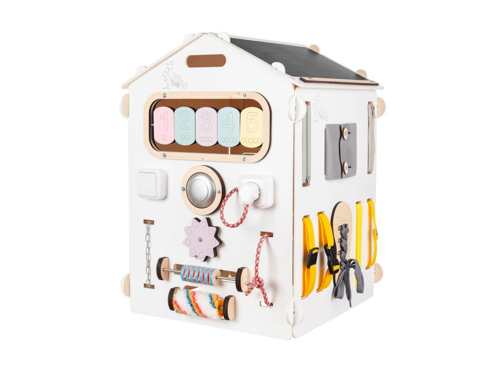 BusyKids House Pastel White Activity Board - Limited Edition