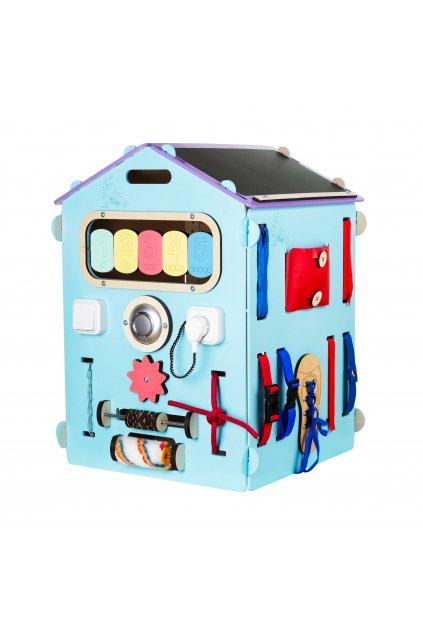 Domeček BusyKids modrý