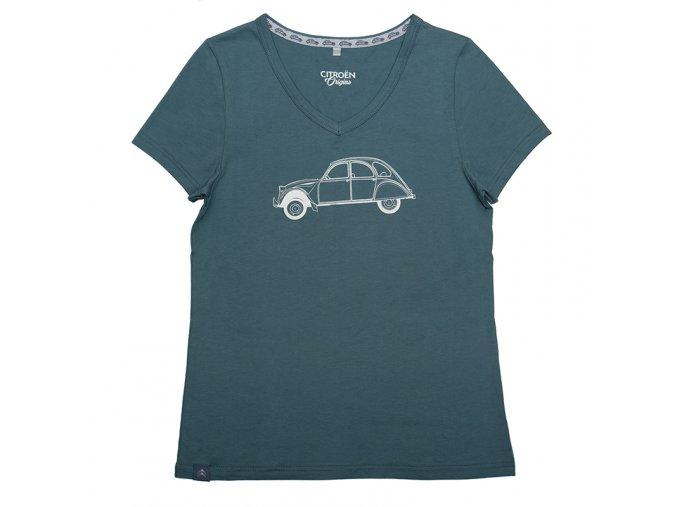 240 T shirt 2CV Gris Blanc Femme