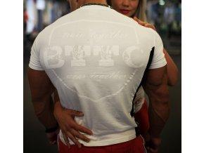 BTTC Slim fit tričko - biele