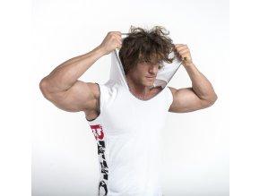 BTTC tričko ASSASIN  bez rukávov - biele