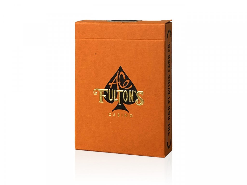 Ace Fulton's Casino Vintage Playing Orange