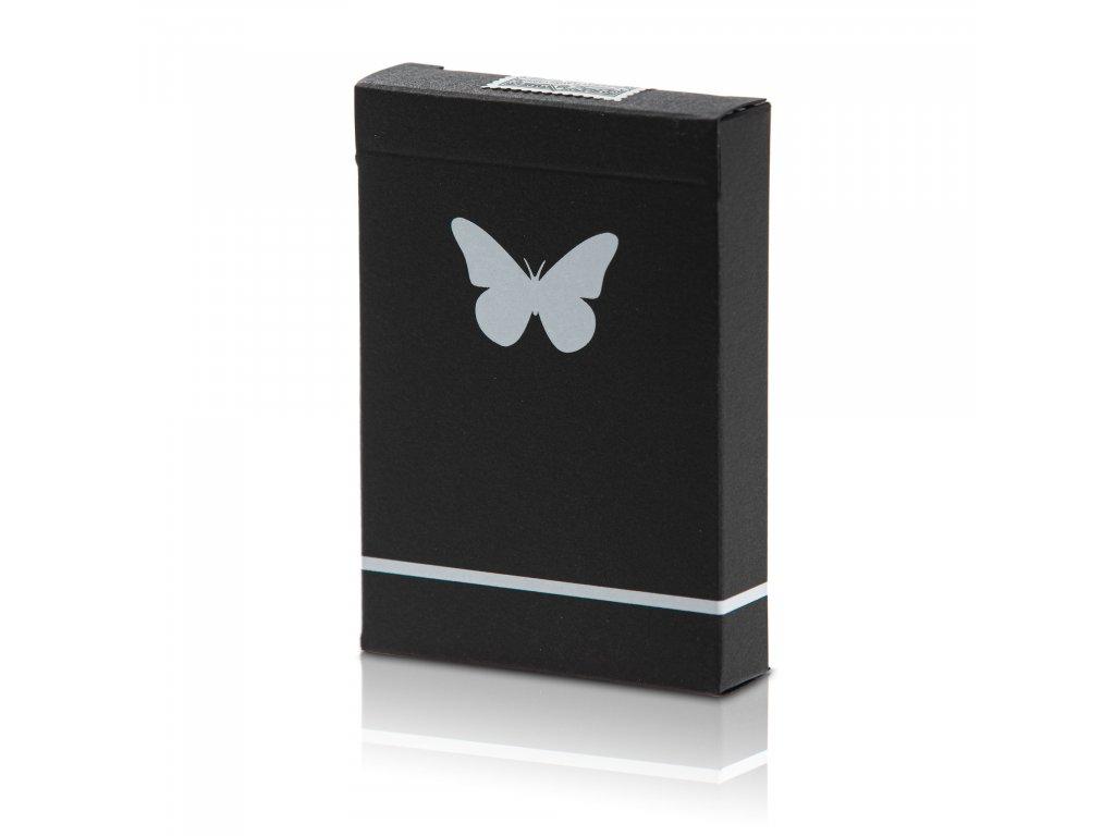 Karty Butterfly Playing Cards černo-bílé