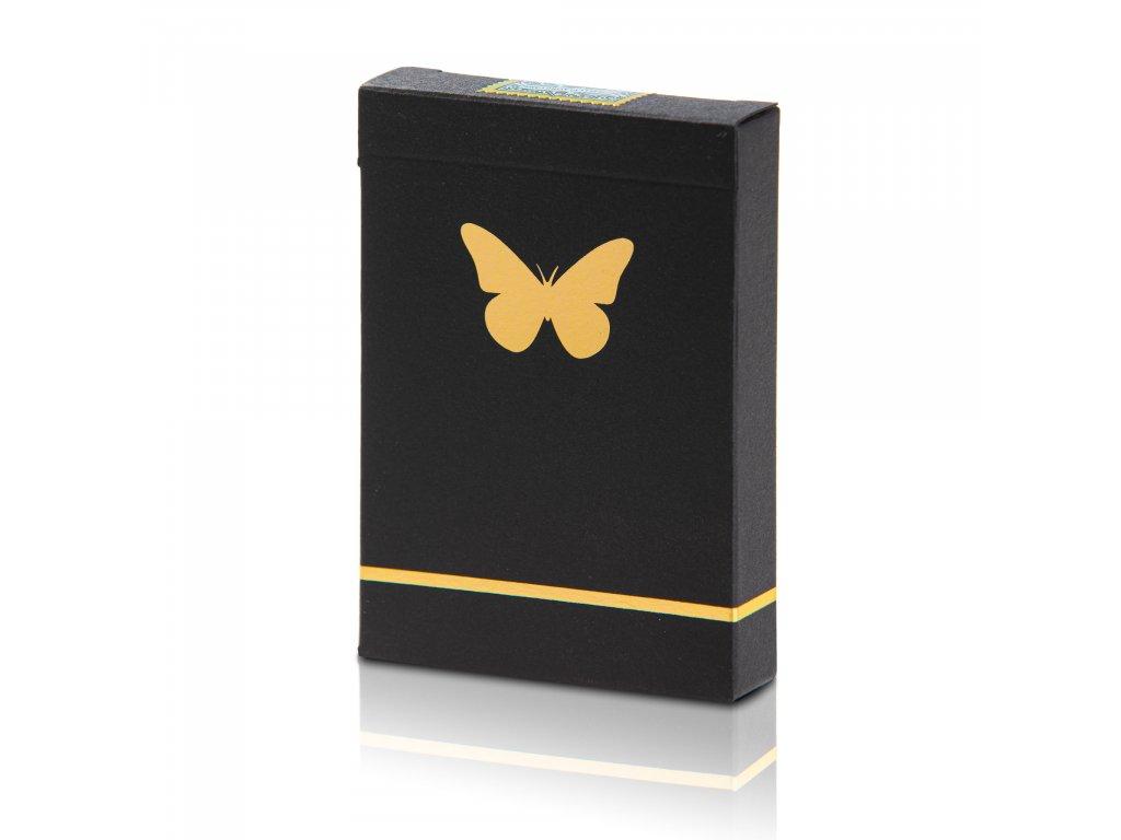Karty Butterfly Playing Cards černo-zlaté