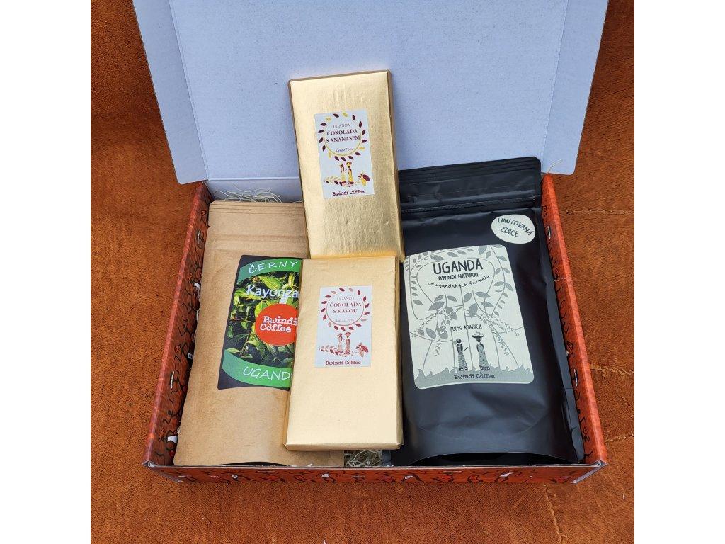 Dárková krabice 4 – Káva LMT EDITION, sušené ovoce a čokoláda