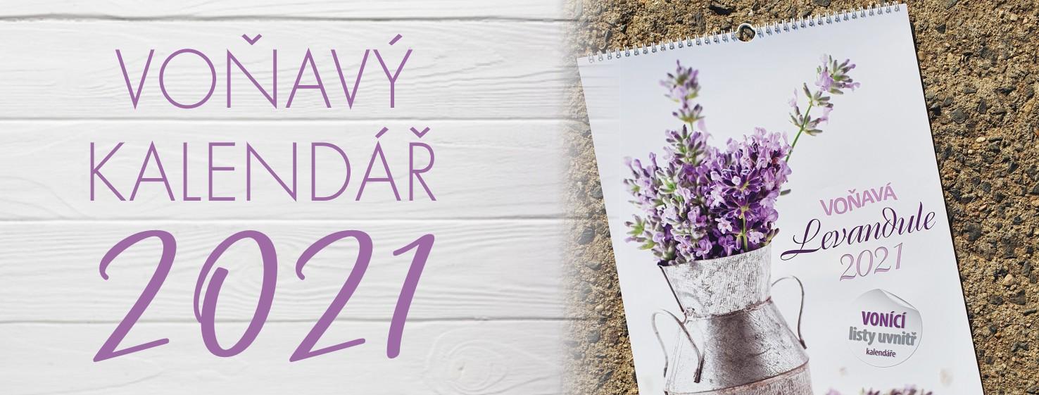 Nástěnný levandulový voňavý kalendář