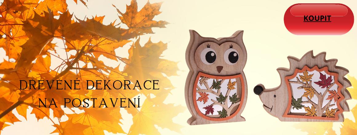Podzimní dřevěné dekorace