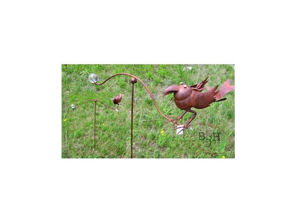Zahradní dekorace houpací pták