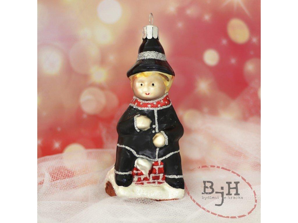 Vánoční ozdoby kominík - sada 6 kusů