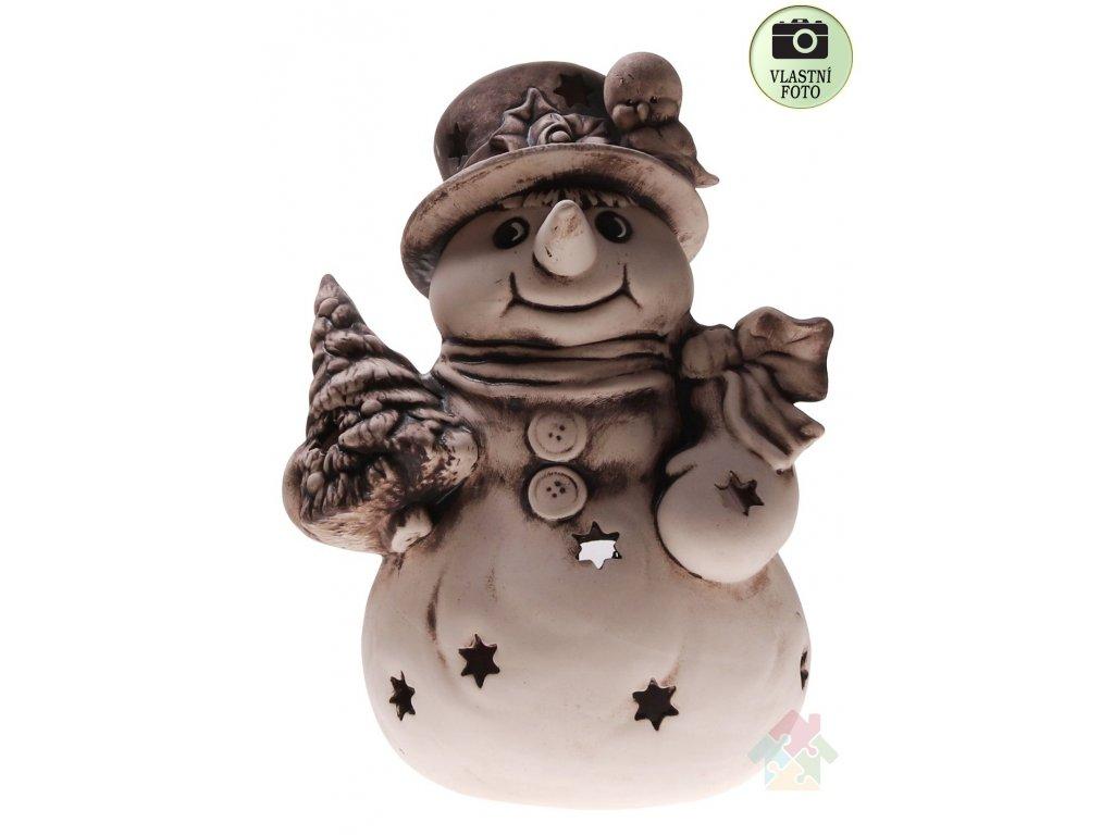 sněhulík z keramiky velký