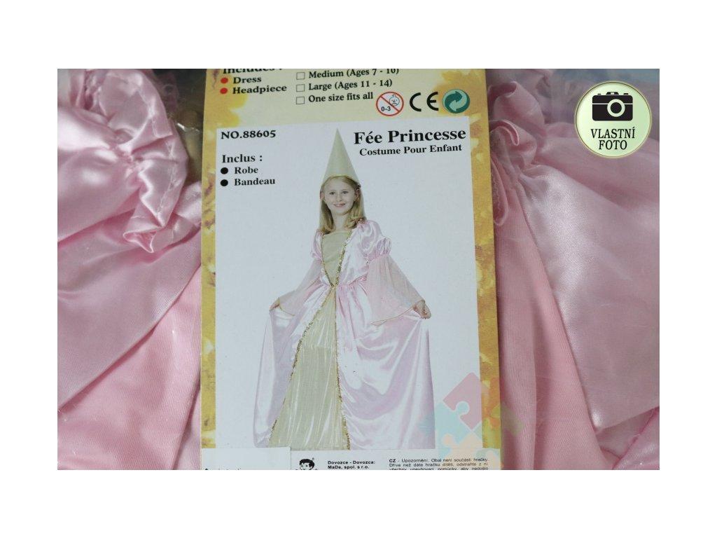 karnevalový kostým pro princeznu