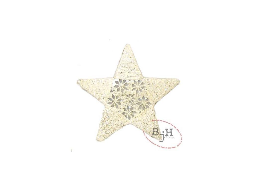 Vánoční dekorace - bílá hvězda