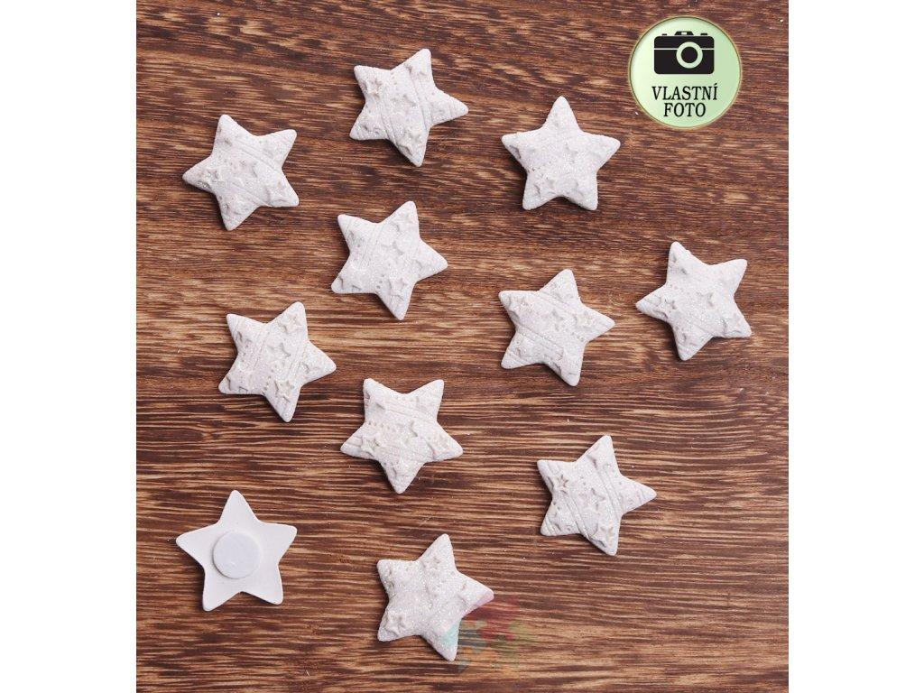vánoční dekorace bílá hvězda
