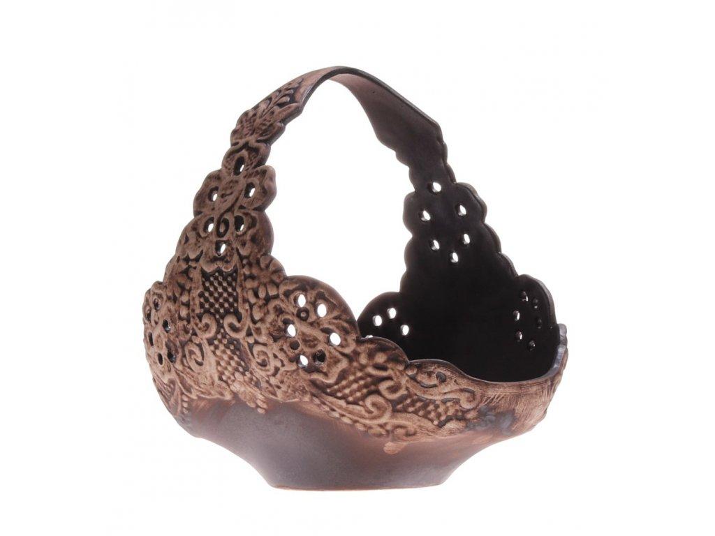 košík z keramiky