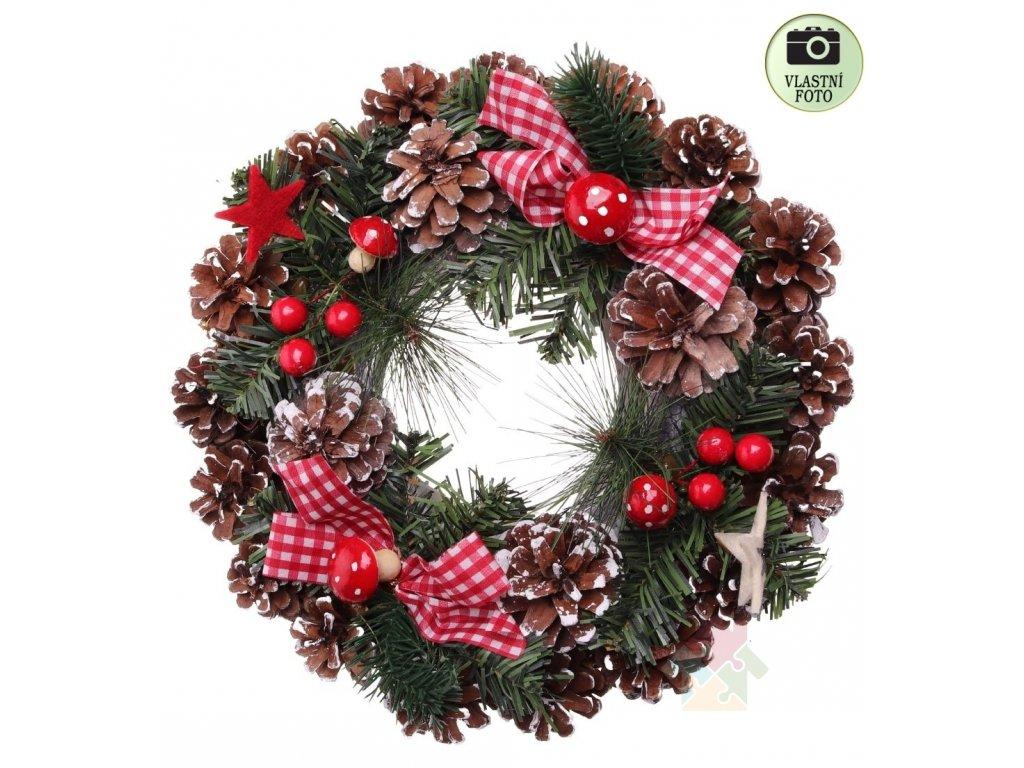 vánoční dekorace věnec