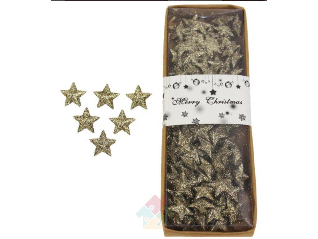 hvězdičky zlaté