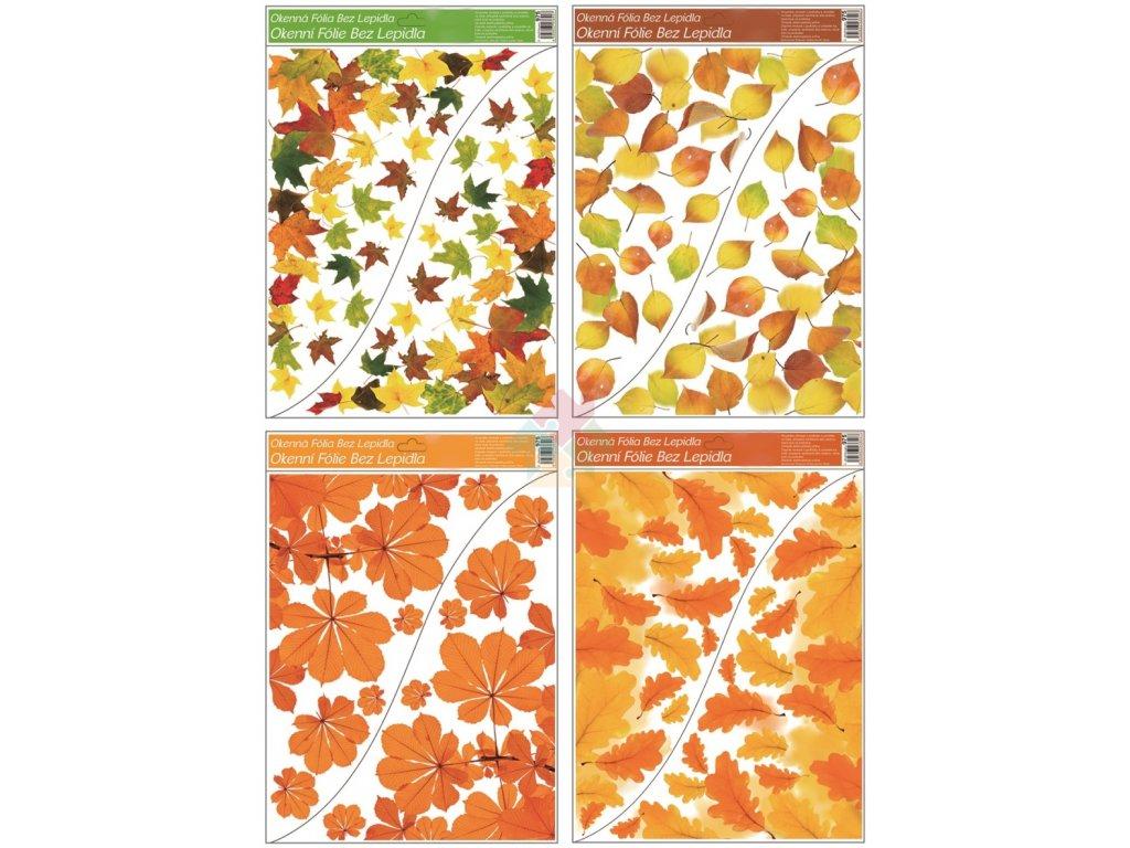 podzimní výzdoba do okna