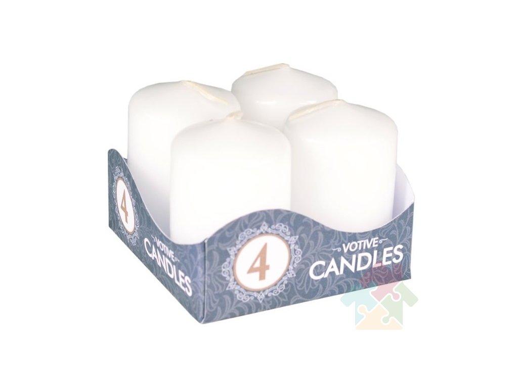 adventní svíčky bílé