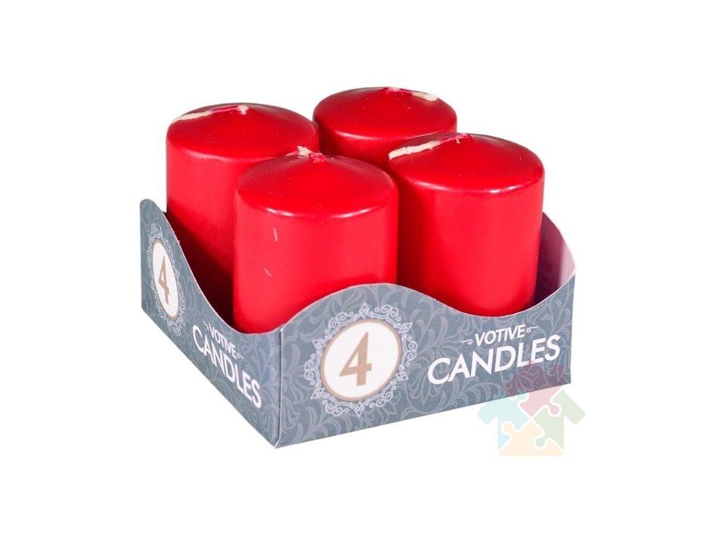 adventní svíčky bordó