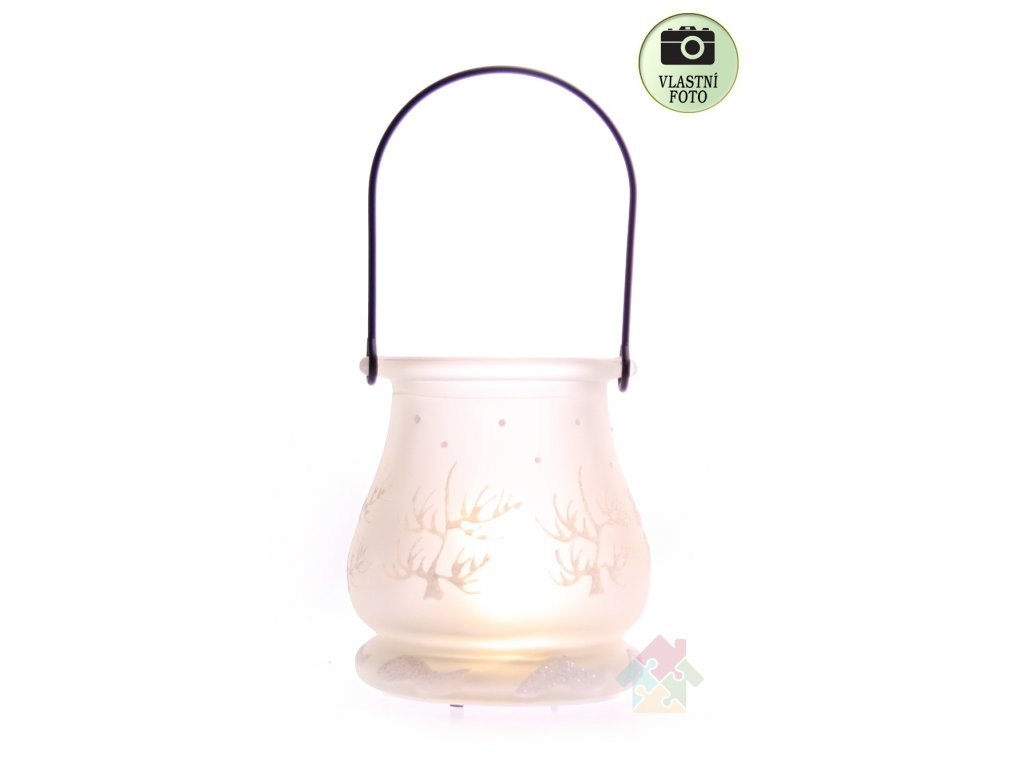skleneny svícen 3536