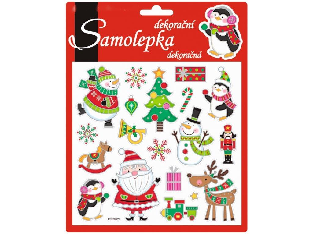vánoční samolepící dekorace 10312