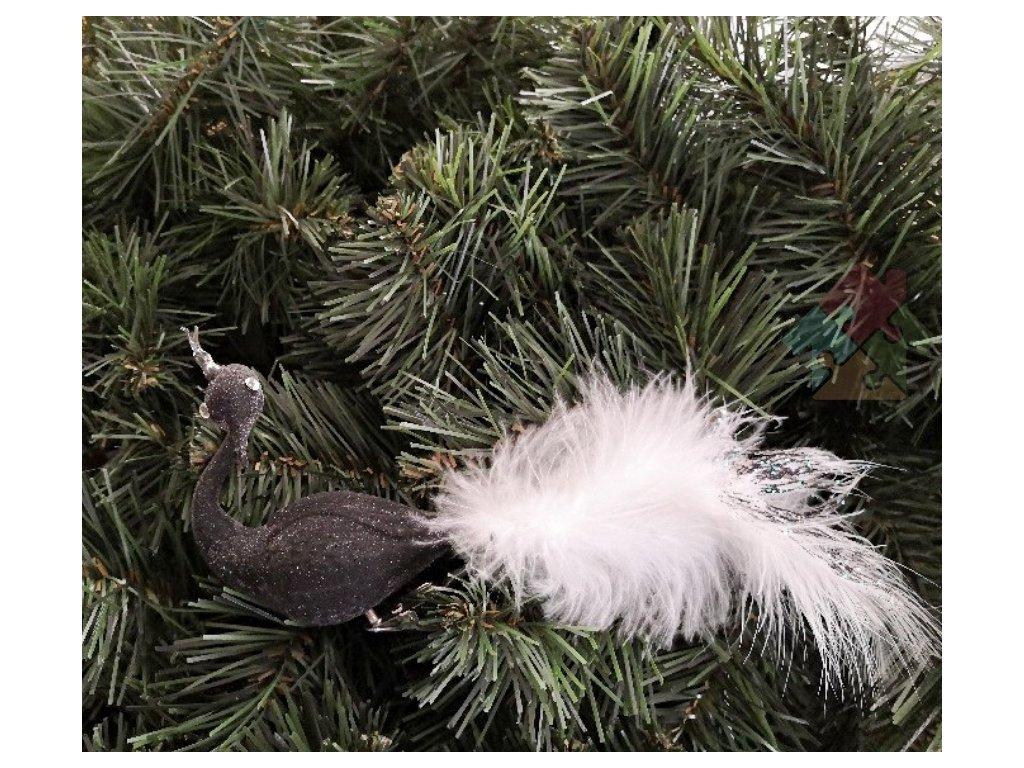 vánoční ozdoby černá labuť