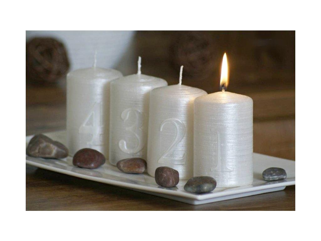 adventní svířky bílé