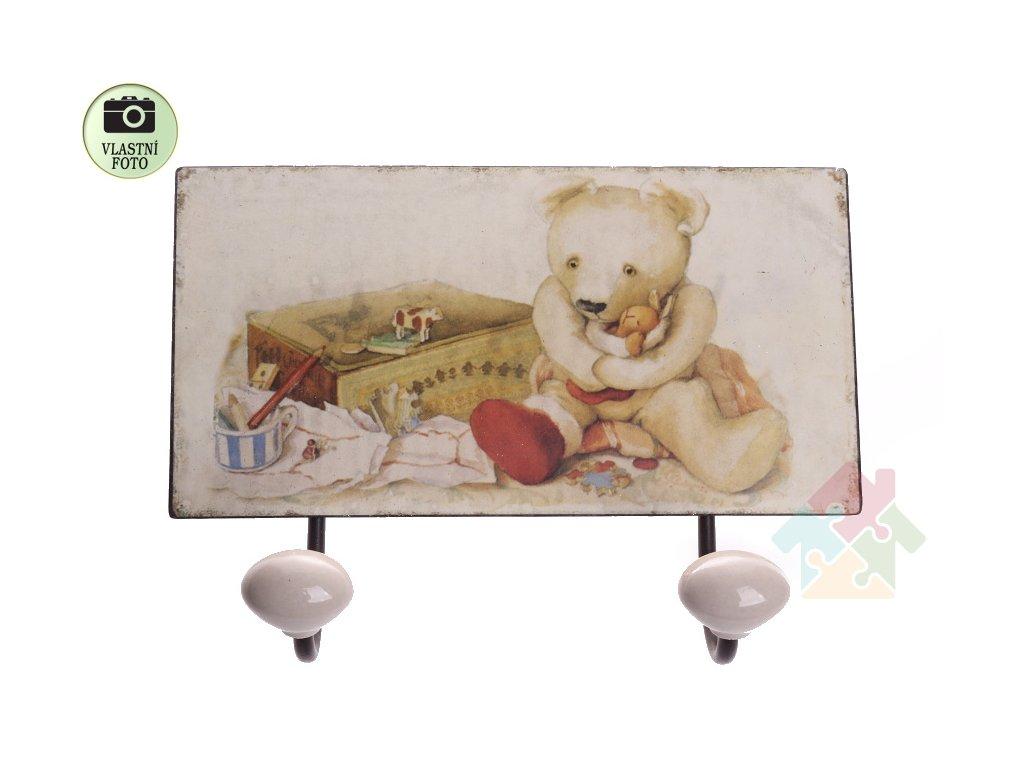 dětský věšák medvídek