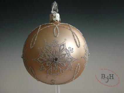 Vánoční skleněné baňky - sada 4 kusů