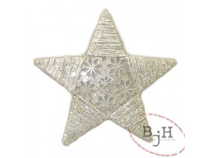 Vánoční dekorace - stříbrná hvězda