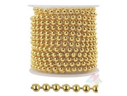 Zlatý kuličkový řetízek