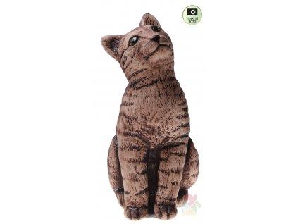 kočka z keramiky