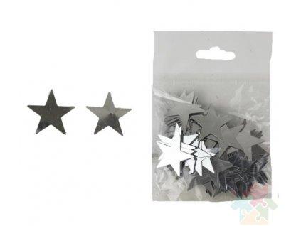 hvězdičky stříbrné