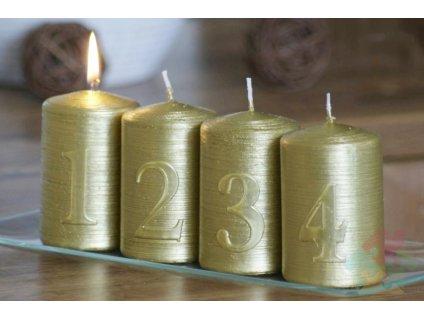 adventní svíčky zlaté