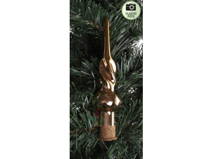 zlatá špice na stromeček