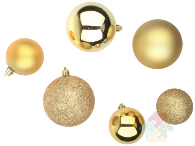 Vánoční ozdoby - zlaté baňky