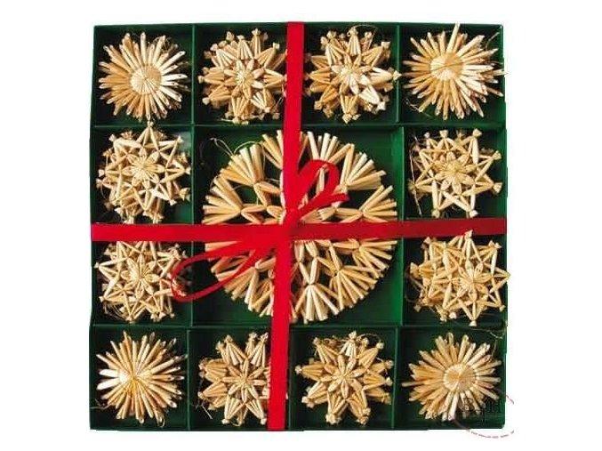Vánoční slaměné ozdoby
