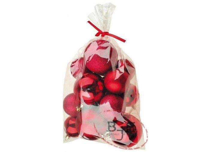 Vánoční ozdoby - červené baňky