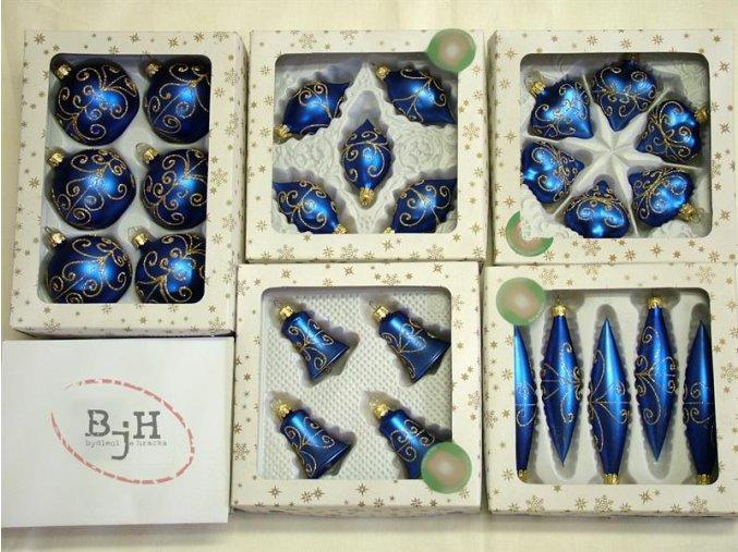 vánoční ozdoby modré