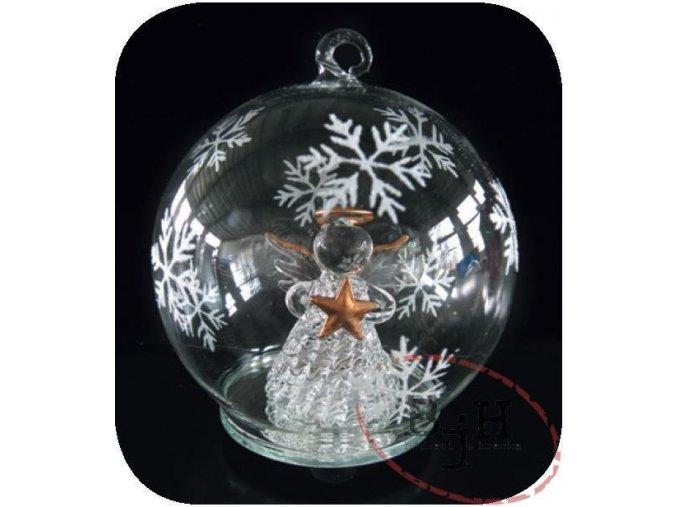 Vánoční baňka s LED diodou