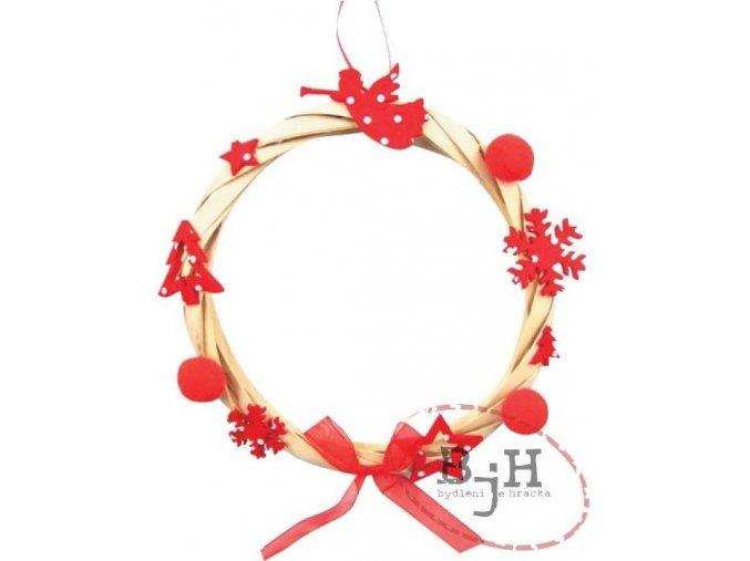 Vánoční věnec červený