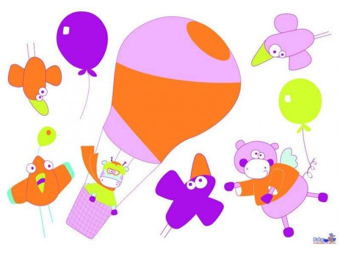 Samolepící dekorace na zeď - balón