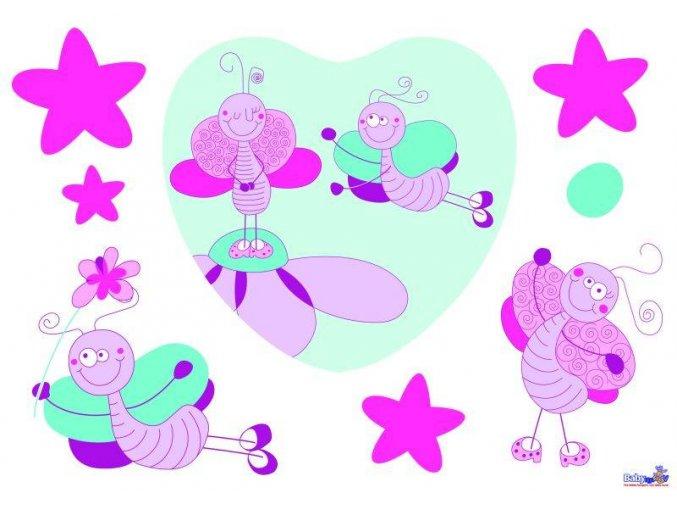 Samolepící dětská dekorace - motýl